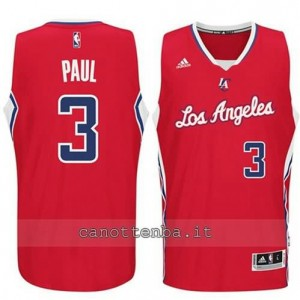 maglia chris paul #3 los angeles clippers 2014-2015 rosso