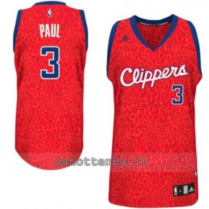 maglia chris paul #3 los angeles clippers leopard