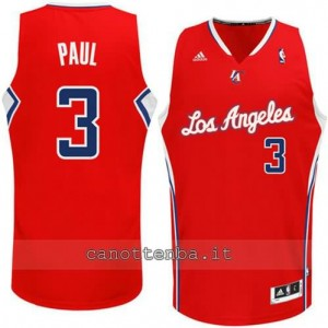 maglia chris paul #3 los angeles clippers revolution 30 rosso