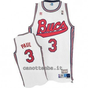 maglia chris paul #3 new orleans hornets throwback bianca