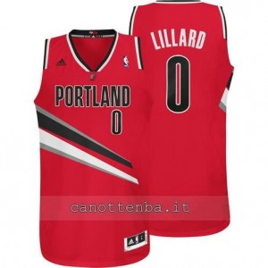 maglia damian lillard #0 portland trail blazers revolution 30 rosso
