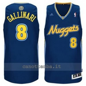 maglia danilo gallinar #8 denver nuggets revolution 30 blu