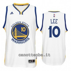 maglia david lee #10 golden state warriors 2014-2015 bianca