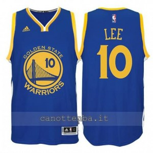 maglia david lee #10 golden state warriors 2014-2015 blu
