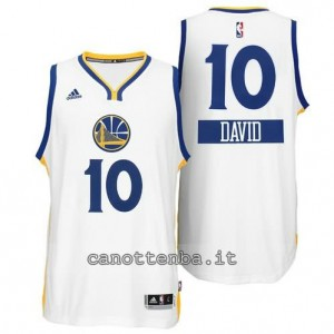 maglia david lee #10 golden state warriors natale 2014 bianca