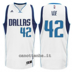 maglia david lee #42 dallas mavericks swingman bianca
