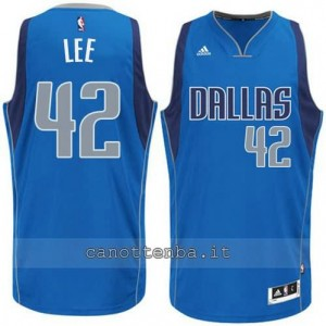 maglia david lee #42 dallas mavericks swingman blu