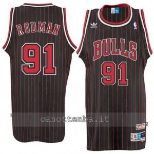 maglia dennis rodman #91 chicago bulls retro striscia