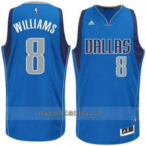 maglia deron williams #8 dallas mavericks 2015 blu