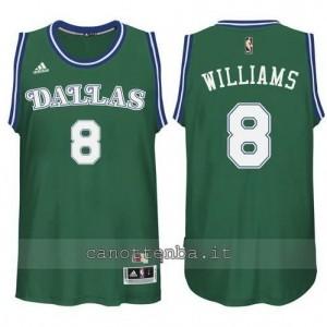 maglia deron williams #8 dallas mavericks classico verde