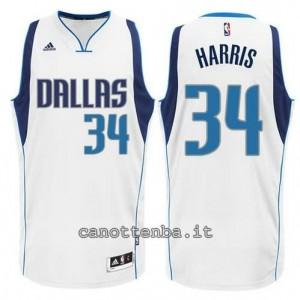maglia devin harris #34 dallas mavericks swingman bianca