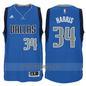 maglia devin harris #34 dallas mavericks swingman blu
