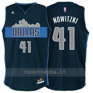 maglia dirk nowitzki #41 dallas mavericks navy blu