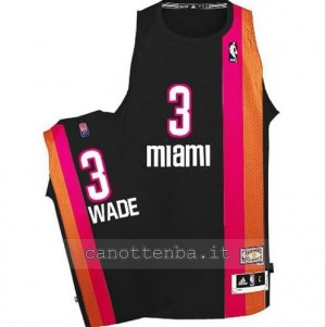 maglia dwyane wade #3 miami heat floridian nero