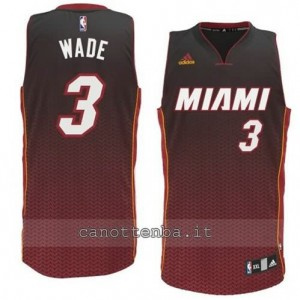 maglia dwyane wade #3 miami heat moda resonate