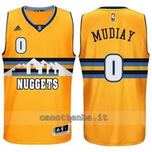 maglia emmanuel mudlay #0 denver nuggets alternato giallo