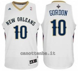 maglia eric gordon #10 new orleans pelicans revolution 30 bianca