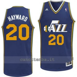 maglia gordon hayward #20 utah jazz revolution 30 blu