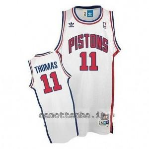 maglia isiah thomas #11 detroit pistons bianca