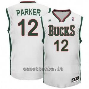 maglia jabari parker #12 milwaukee bucks revolution 30 bianca