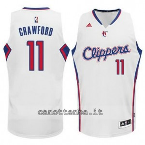 maglia jamal crawford #11 los angeles clippers 2014-2015 bianca