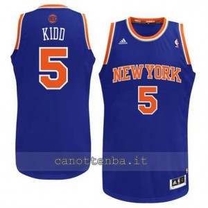 maglia jason kidd #5 new york knicks revolution 30 blu