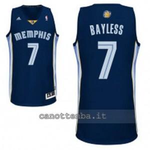 maglia jerryd bayless #7 memphis grizzlies revolution 30 blu