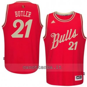 maglia jimmy butler #21 chicago bulls natale 2015 rosso