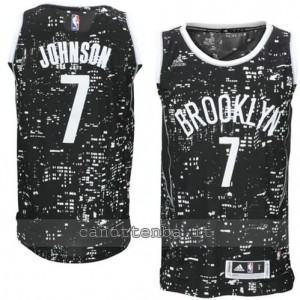 maglia joe johnson #7 brooklyn nets lights nero