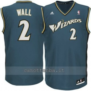 maglia john wall #2 washington wizards revolution 30 grigio