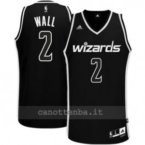 maglia john wall #2 washington wizards revolution 30 nero