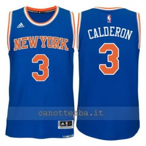 maglia jose calderon #3 new york knicks 2015 swingman blu