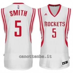 maglia josh smith #5 houston rockets 2014-2015 bianca