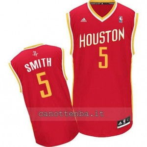 maglia josh smith #5 houston rockets revolution 30 rosso