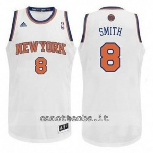 maglia jr smith #8 new york knicks revolution 30 bianca