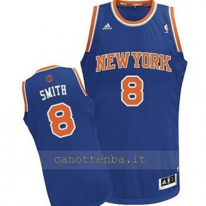 maglia jr smith #8 new york knicks revolution 30 blu