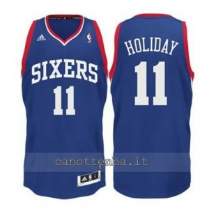 maglia jrue holiday #11 philadelphia 76ers revolution 30 blu