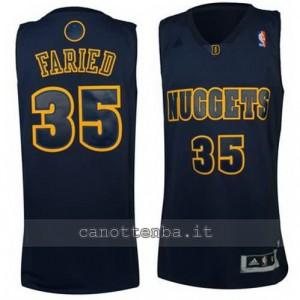 maglia kenneth faried #35 denver nuggets moda nero