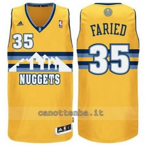 maglia kenneth faried #35 denver nuggets swingman giallo