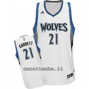 maglia kevin garnett #21 minnesota timberwolves 2014-2015 bianca