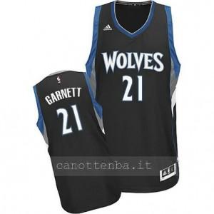maglia kevin garnett #21 minnesota timberwolves 2014-2015 nero