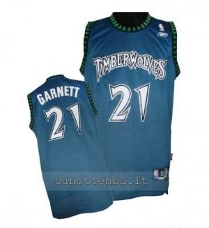 maglia kevin garnett #21 minnesota timberwolves soul blu