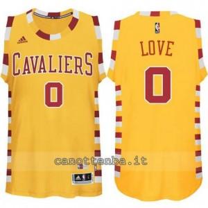 maglia kevin love #0 cleveland cavaliers classico giallo