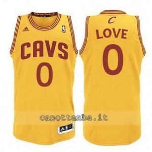 maglia kevin love #0 cleveland cavaliers revolution 30 giallo