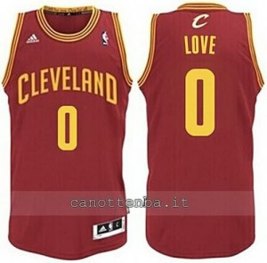 maglia kevin love #0 cleveland cavaliers revolution 30 rosso
