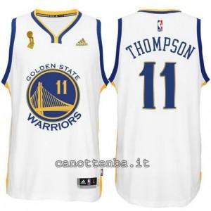 maglia klay thompson #11 golden state warriors campioni 2015 bianca