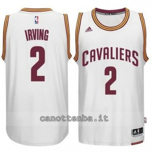 maglia kyrie irving #2 cleveland cavaliers 2014-2015 bianca