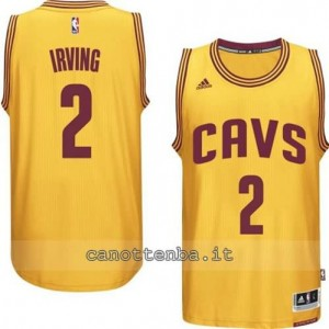 maglia kyrie irving #2 cleveland cavaliers 2014-2015 giallo