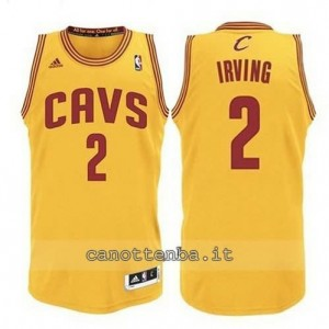 maglia kyrie irving #2 cleveland cavaliers revolution 30 giallo