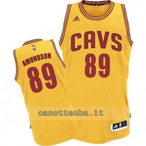 maglia lou amundson #89 cleveland cavaliers revolution 30 giallo